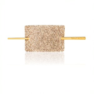 Crystal gold hair barrette